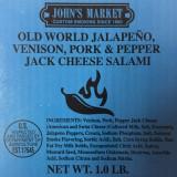 Old World Jalapeno, Venison, Pork & Pepper Jack Cheese Salami