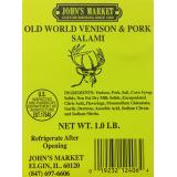 Old World Venison & Pork Salami