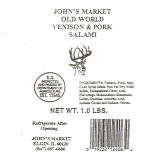 Old World Venison & Pork Salami