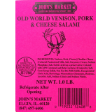 Old World Venison, Pork & Cheese Salami